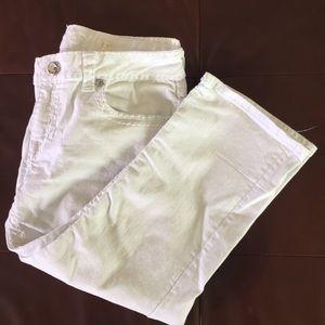 LA Idol USA cropped white jeans
